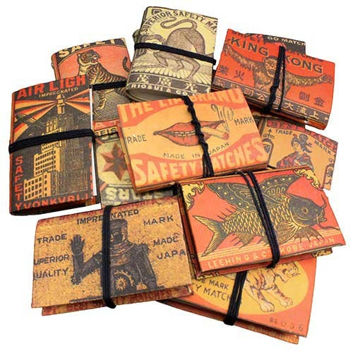 Matchbox Cover Pocket Notebooks