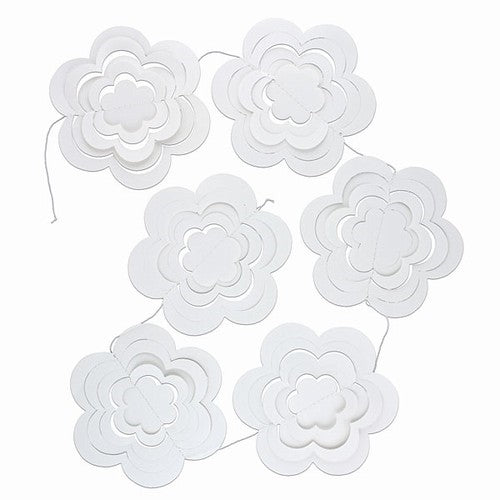 White paper DIY bunting flags party decoration