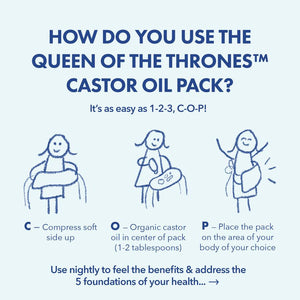 Queen of Thrones Castor Oil and Compress