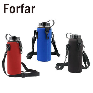 Water Bottle Carrier Insulated  Pouch And Strap 1 Liter