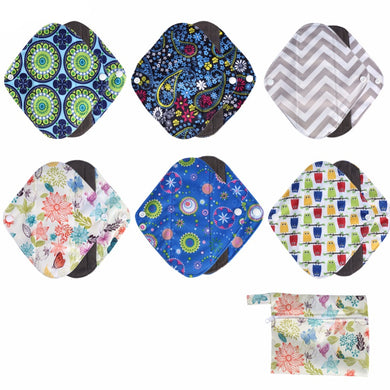 Resuable Bamboo Sanitaty Pads:  Mixed Designs