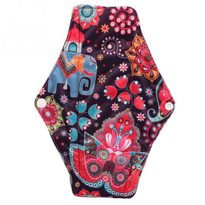 1PCs Reusable Sanitary Pad Charcoal Bamboo Cloth Menstrual Pad Washable Sanitary Towel Panty Period Menstrual Pad Size M 25*18cm