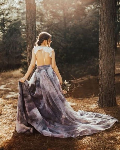 Rock the Frock Bridal | Colourful wedding dress | Sweet Caroline Styles