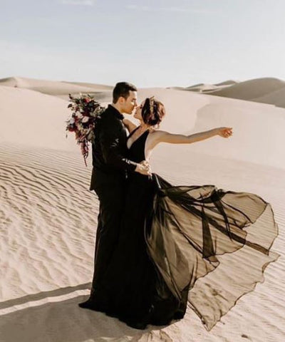 Rock the Frock Bridal | Black wedding dress | Sweet Caroline Styles