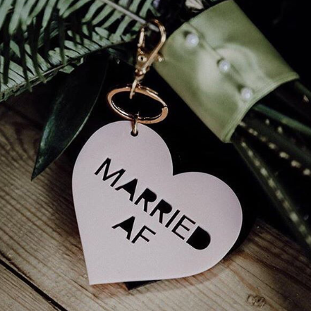 married AF bag charm