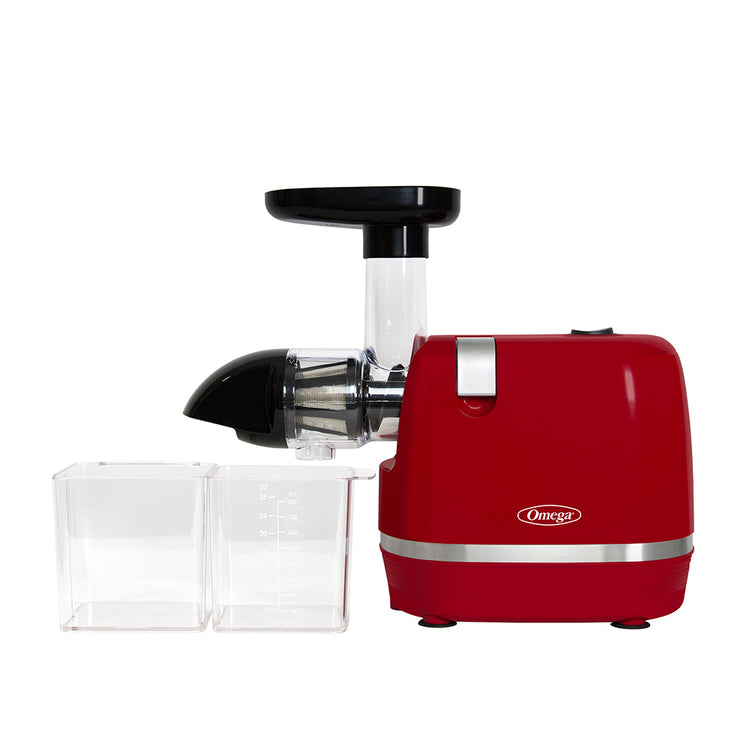 H3000RED Cold Press 365 Juicer-Low Speed Horizontal-Omega Juicers
