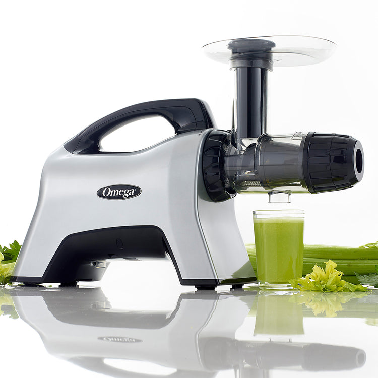 NC1000HDS Premium Juicer and Nutrition System-Low Speed Horizontal-Omega Juicers