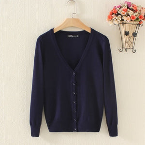 Long Sleeve V-Neck Women's Sweater