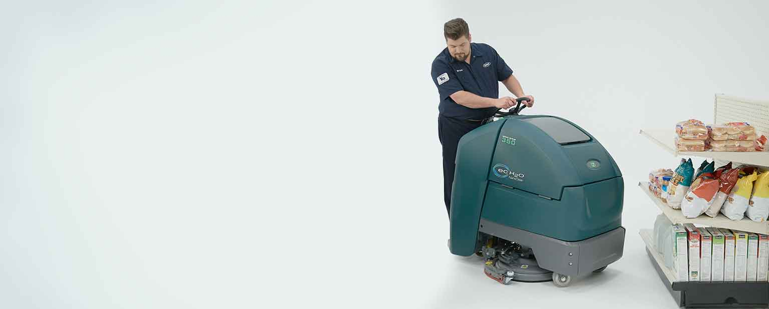 Tennant Nobles Speed Scrub 350 Stand On Floor Scrubber by Cobol in Montreal, Quebec