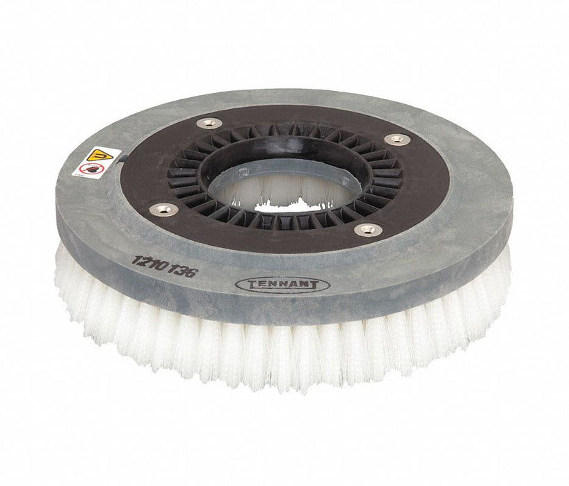 Nylon Disk Scrub Brush Assembly - 12 in