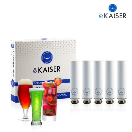 Drink Mix (Pinacolada, Kaffee, Mojito, Cappuccino, Cola) eKiaser 5er Pack Weiße Cartomizer