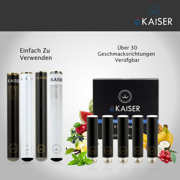Beeren Mix eKaiser 5er Pack Schwarze Cartomizer