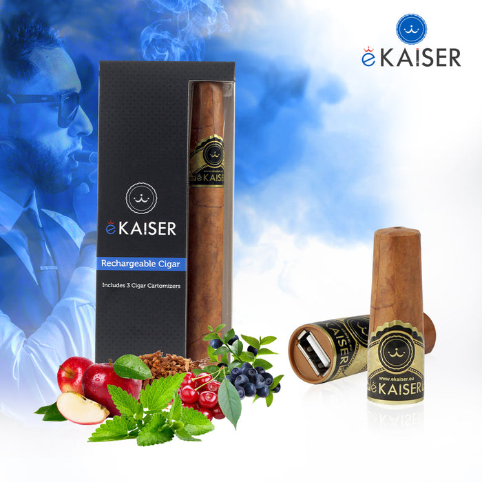 eKaiser E Cigar USB Rechargeable Elektronische Zigarre - 3 Prefilled Cartomizers