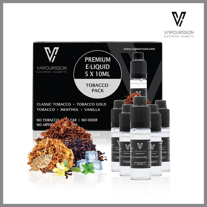 Vapoursson 5er Pack Tabak Flavour 0mg