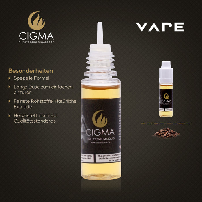 CIGMA |Kaffee 10ml E Liquid 12mg/ml(70VG)| Cigee