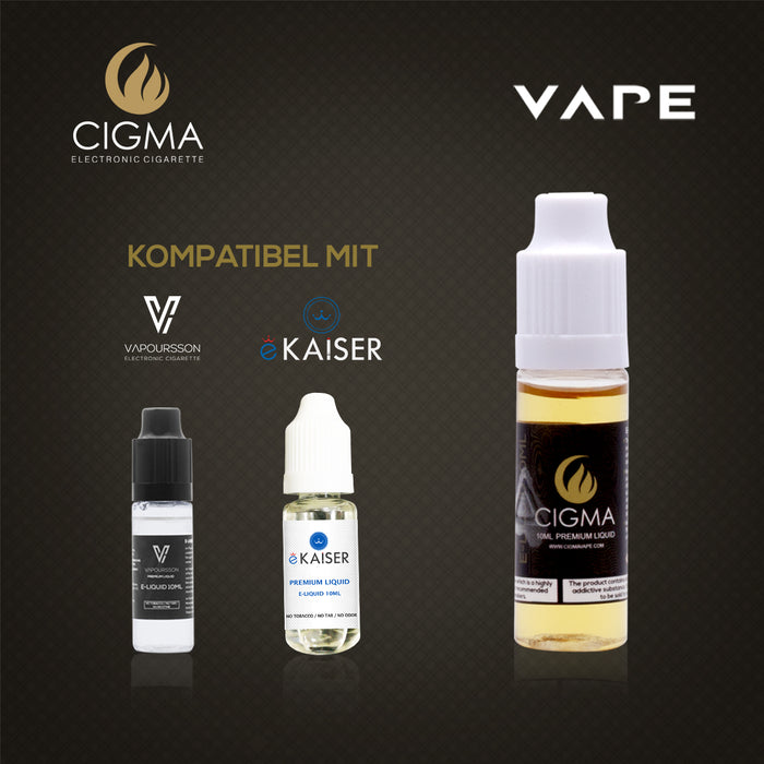 CIGMA | Doppelte Minze  10ml E Liquid 18mg/ml(70VG)| Cigee
