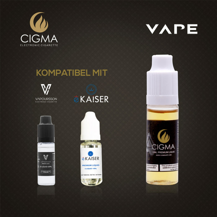 CIGMA Vanille  10ml E Liquid 18mg/ml(70VG)| Cigee
