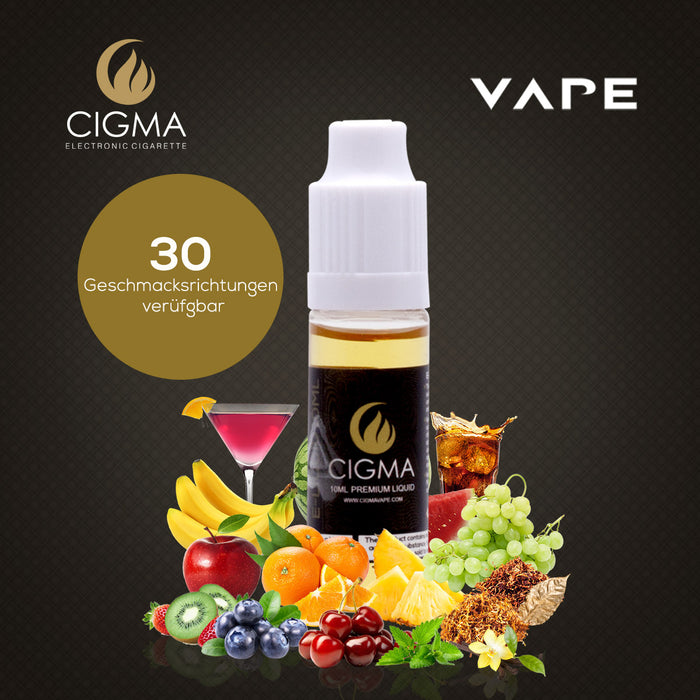 CIGMA Weicher Tabak 10ml E Liquid 18mg/ml(70VG)| Cigee