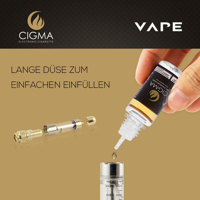 CIGMA | Gold Tabak 10ml E Liquid 18mg/ml(70VG)| Cigee