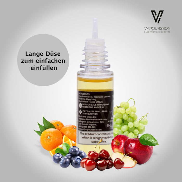 Vapoursson Apfel 6mg/ml (80PG/20VG) 10ml Flasche