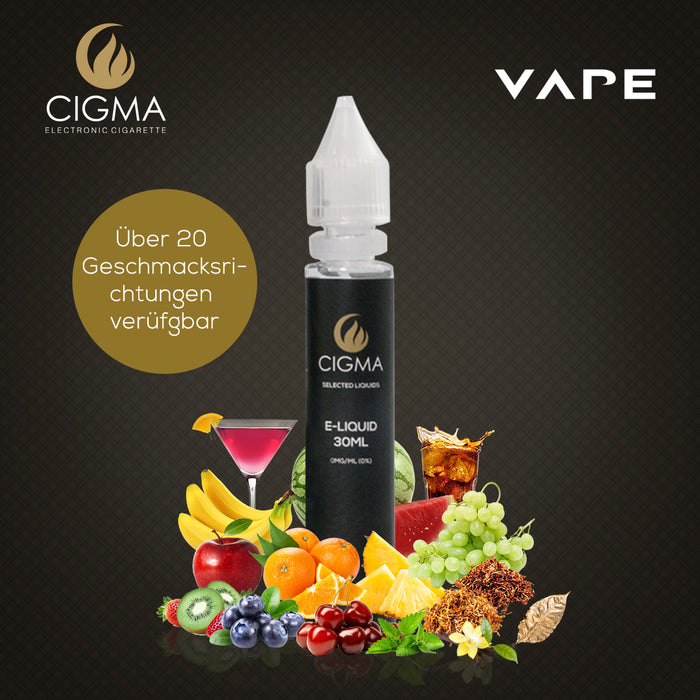 CIGMA | Doppelte Minze 30ml E Liquid 0mg | Cigee