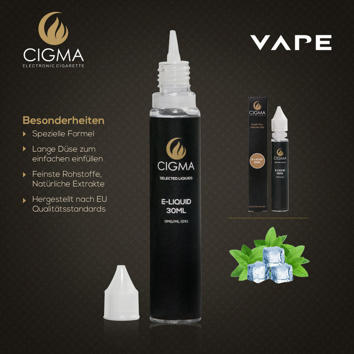 CIGMA| Menthol 30ml E Liquid 0mg | Cigee
