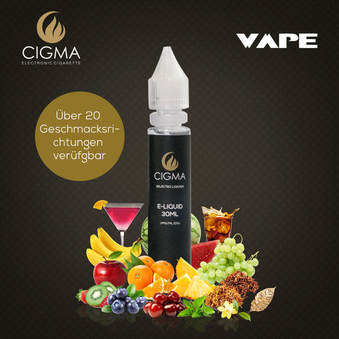 CIGMA | Gold Tabak 30ml E Liquid 0mg |Cigee