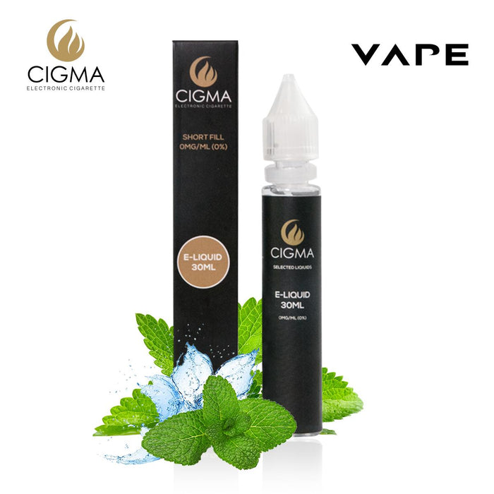 CIGMA Starke Minze 30ml E Liquid 0mg | Neue Shortfill Flaschen