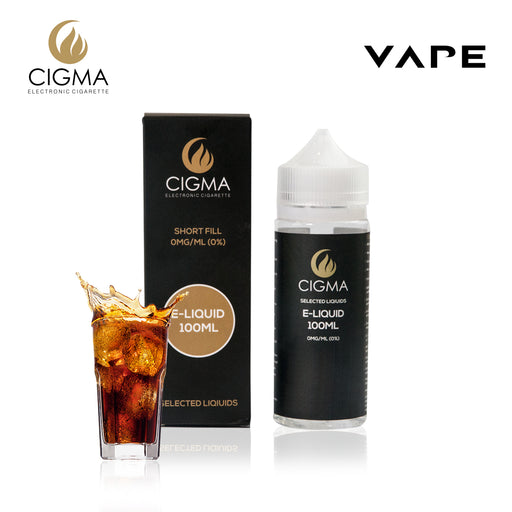 CIGMA Cola 100ml E Liquid 0mg | Neue Shortfill Flaschen | - Cigee.de E-liquid