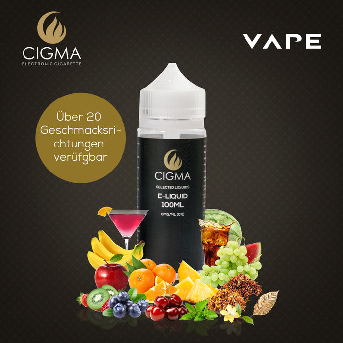 CIGMA | USA Tabak 100ml E Liquid 0mg | Cigee