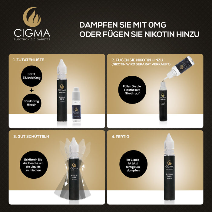 CIGMA | Kaugummi 30ml E Liquid 0mg | Cigee