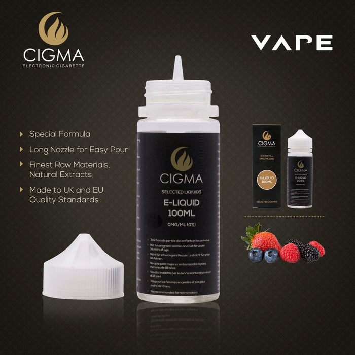 Cigma 100ml Berry Mix E Liquid 0mg | Cigee