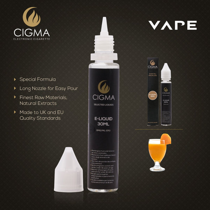 Cigma | Mango Smoothie 30ml E Liquid 0mg | Cigee