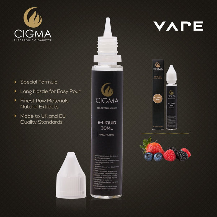 Cigma| Beerenmix  30ml E Liquid 0mg | Cigee