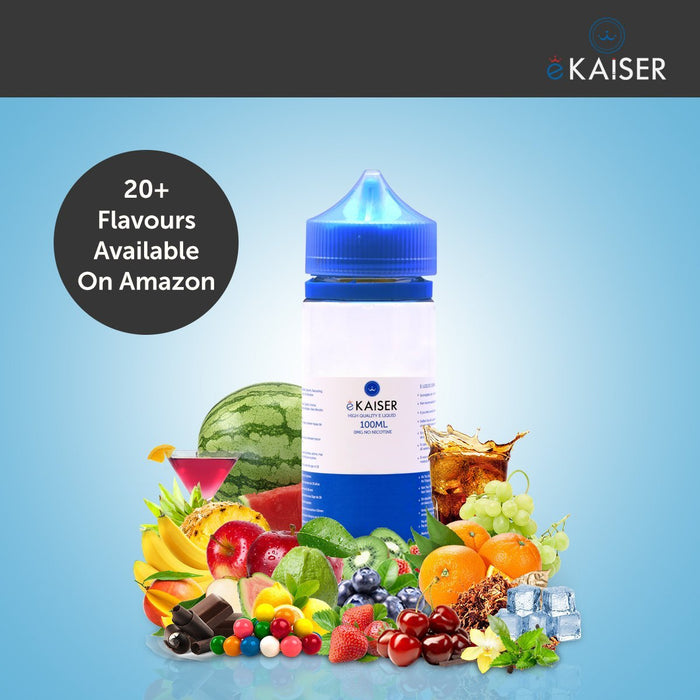 eKaiser Kaugummi 100ml E Liquid 0mg | Shortfill Flasche - Cigee.de E-liquid