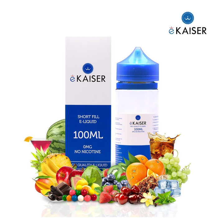 eKaiser Gold Tabak 100ml E Liquid 0mg | Shortfill Flasche - Cigee.de