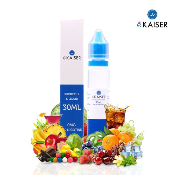 eKaiser Tabak Mix (Zigarre) 30ml E Liquid 0mg | Shortfill Flasche | - Cigee.de