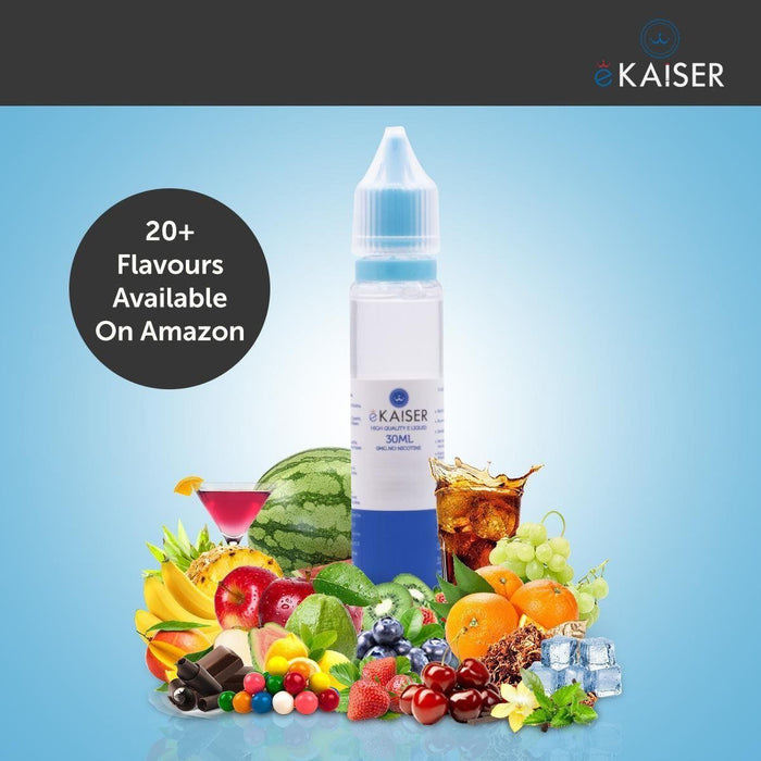 eKaiser Tabak 30ml E Liquid 0mg | Shortfill Flasche | - Cigee.de E-liquid