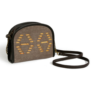 Afreen Mini-Sling Bag Brown