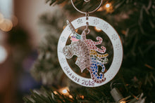 LARGE PERSONALIZED UNICORN CHRISTMAS ORNAMENT