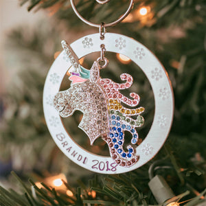 PERSONALIZED UNICORN CHRISTMAS ORNAMENT