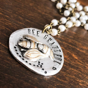 BEE GRATEFUL PENDANT