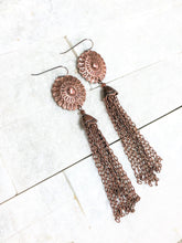 COPPER BOHO TASSEL EARRINGS