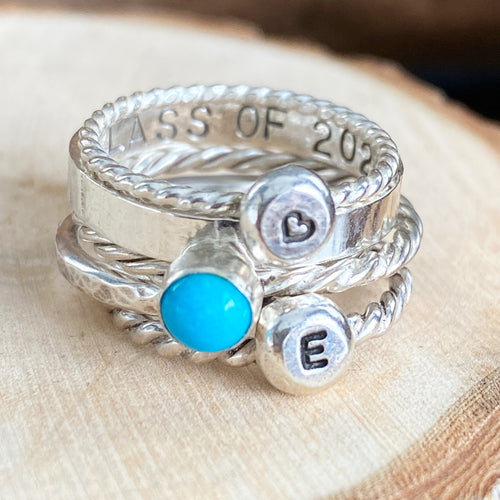 FUNKY GRAD RING STACK