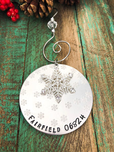ZIP CODE OR DESTINATION CHRISTMAS ORNAMENT