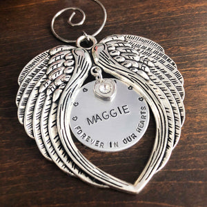 ANGEL WING MEMORIAL ORNAMENT