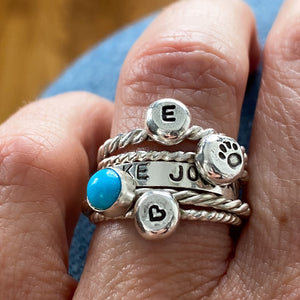 PERSONALIZED RING STACK - SET OF 3