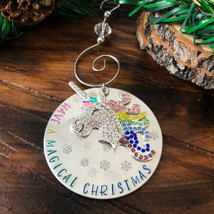 MAGICAL CHRISTMAS UNICORN  ORNAMENT