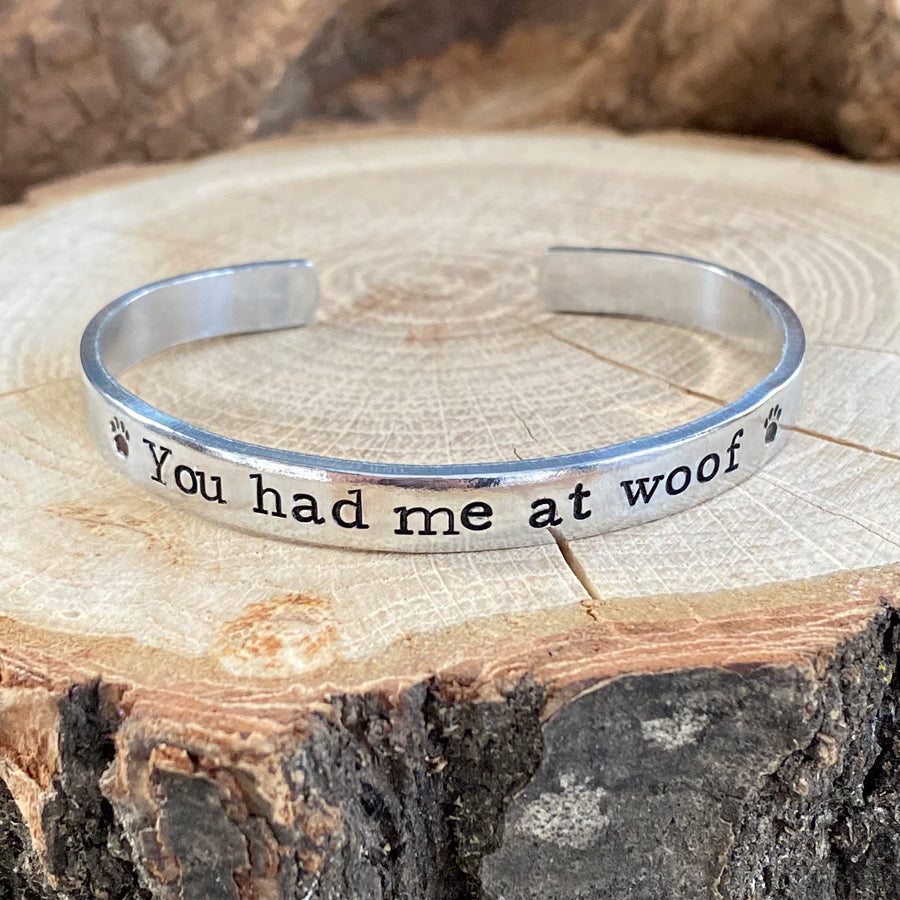 YOU HAD ME AT WOOF SAVEABULL RESCUE FUNDRAISING BRACELET