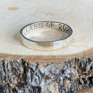 SHINY CLASS OF 2020 STERLING SILVER RING